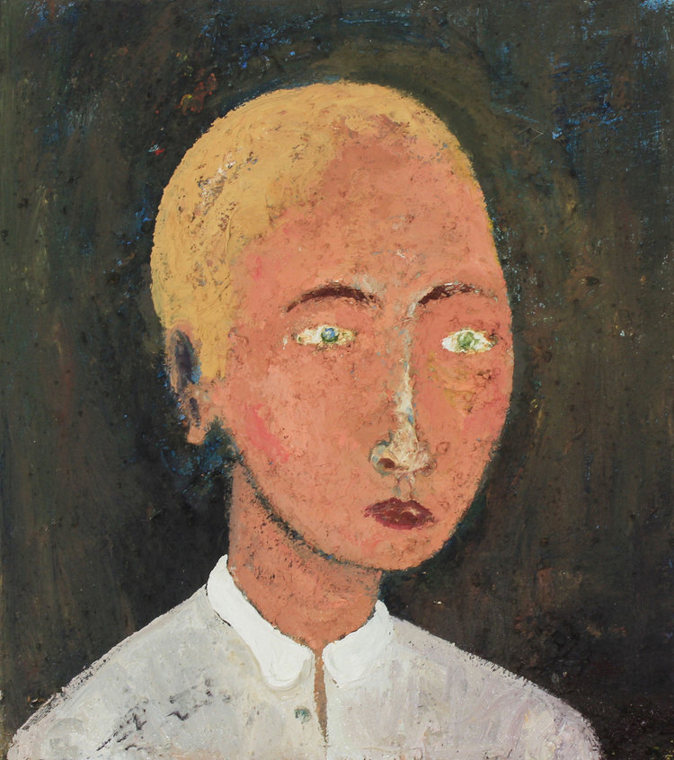 Peter-Burns_Portrait-of-a-Young-Man_oil-and-mixed-media-on-canvas_45-x-40cm_â'¬900