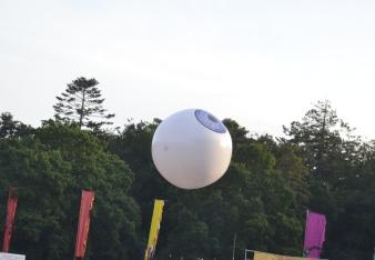 Giant Eye Ball returns to Space