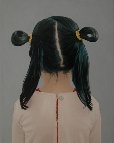 Back View of Girl with Buns