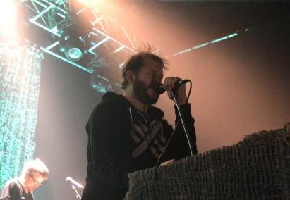 Justin Vernon at his strange Keyboard