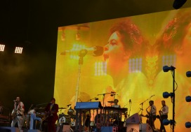 Arcade Fire, Full Band with Screen, Dublin Gig 2014
