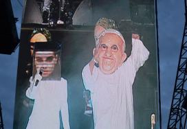 Pope and Sinead O'Connor - Arcade Fire Gig