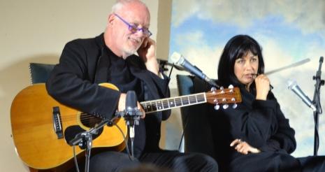 David Gilmour and Polly Samson at Borris
