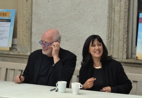 David Gilmour and writer Polly Samson