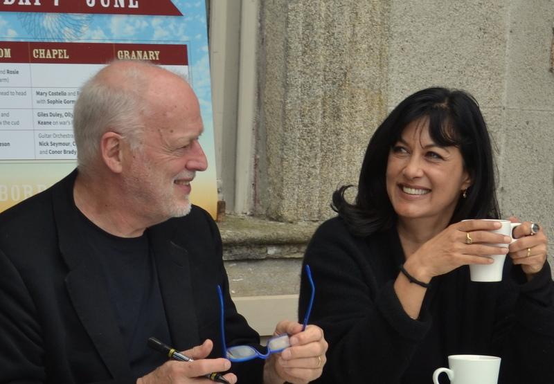 Polly Samson and David Gilmour - Signing