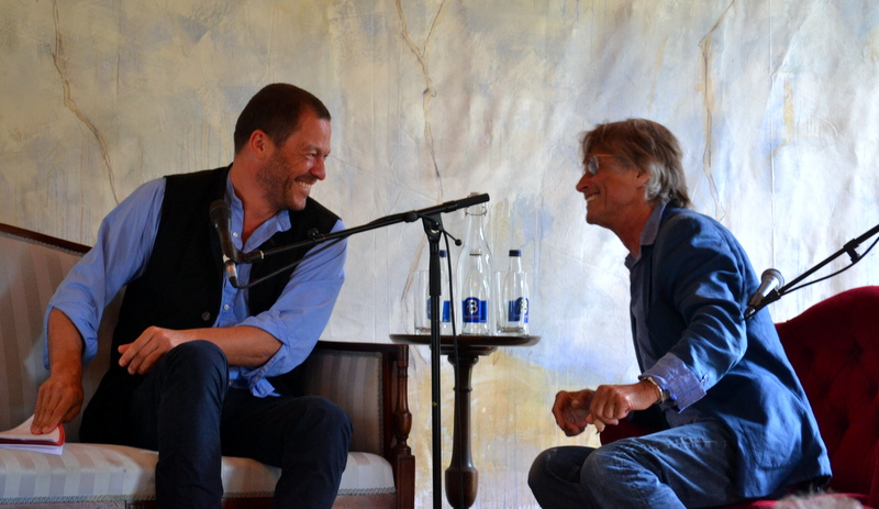 Domic West and Bruce Robinson at Borris