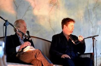 Martin Amis and Iain Overton at Borris Festival
