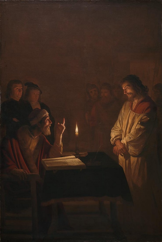 NG3679 Gerrit van Honthorst Christ before the High Priest, about 1617 © The National Gallery, London