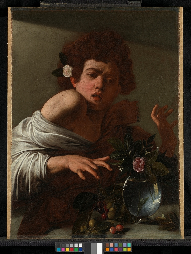 NG6504 Michelangelo Merisi da Caravaggio Boy bitten by a Lizard About 1594-5 © The National Gallery, London