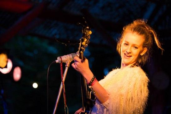 Katie Laffan on the woodlands stage at Body&Soul. Photo Olga Kuzmenko / AllenKielyphotography.com